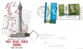 1965 Post Office Tower, Illustrated FDC, First Day of Issue Slogan Liverpool