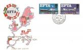 1967 European Free Trade Area (EFTA), Illustrated FDC, Hedge End Southampton cds