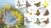 2013 Butterflies, Buckingham Covers Official FDC, The Chalkhill Blue, Butterflies Chalk Gravesend Kent H/S
