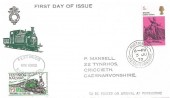 1970 Literary Anniversaries, Festiniog Railway Co. FDC, 5d Dickens stamp only, Portmadoc Caernarvonshire cds