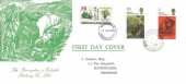 1970 Literary Anniversaries, Ravenglass & Eskdale Railway Co. FDC, 1/6d Wordsworth & 5d Dickens stamp, Ravenglass Cumberland cds