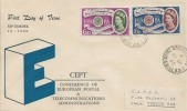 1960 Europa, Illustrated FDC, Child's Hill Cricklewood NW2 cds