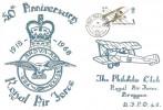 1968 British Anniversaries, RAG Bruggen FDC, 1s RAF Stamp only, Field Post Office 986 cds