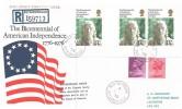 1976, USA Bicentenary, Registered PO FDC, Northborough Peterborough cds, + Cachet