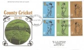 1973 County Cricket Centenary, Post Office FDC, Bristol FDI