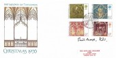 1976 Christmas, Save the Children Fund FDC, Philatelic Bureau H/S, Signed by the Stamp Designer