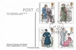 1975 Jane Austen, Postcard of the Village Church Godmersham Kent, Godmersham Canterbury Kent cds