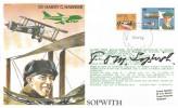 1979, British Airways Test Flight Series TP1 Harry G Hawker Cover, Flown Melbourne to London Heathrow, Moorabbin Victoria Australia cds, Signed by Sir Tom Sopwith