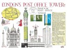 1965 Post Office Tower, FAGA Series Greetings from London Card with Post Office Stamps added
