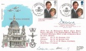1981 Royal Wedding St. Paul's Cathedral, RFDC 5 Official FDC, RAF St. Clement Danes British Force 1952 Postal Service H/S, Signed