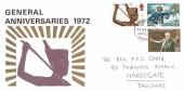 1972 General Anniversaries, William F Taylor, Harrogate Yorkshire FDI