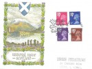 1971 Scottish Regionals 2½p, 3p, 5p, 7½p, Philart FDC, First Day of Issue Dumfries H/S