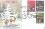 1970 Christmas, Connoisseur FDC, First Day of Issue Bethlehem Llandeilo Carms. H/S, Signed by the Stamp Designer Sally Stiff