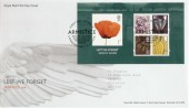 2008 Lest We Forget Miniature Sheet Royal Mail FDC