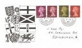 1968 Queen Elizabeth II ½d, 1d, 2d, 6d Definitive Issue, Illustrated Definitive FDC, Haverfordwest Pembrokeshire cds