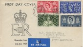 1953 Coronation, Illustrated FDC, Long Live the Queen Slogan Ealing & cds