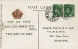 1936 King Edward VIII ½d Green x2, H.M King Edward VIII on Horseback Postcard, Horsforth Leeds cds