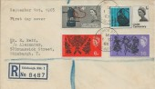 1965, Joseph Lister & Commonwealth Arts Festival, Registered Plain FDC, Frederick Street B.O. Edinburgh cds