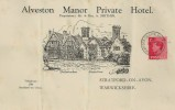 1936 King Edward VIII 1d Red Definitive Issue, Alveston Manor Private Hotel Stationery FDC, Stratford On Avon Warwickshire cds