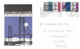 1964 Forth Road Bridge, GPO FDC, Southend Illuminations Aug. 15th - Oct 18th Slogan