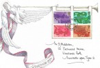 1975 Christmas, Hand Painted of an Angel FDC, Newcastle Upon Tyne FDI