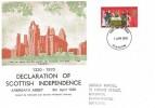 1970 General Anniversaries, Declaration of Scottish Independence FDC, 5d Declaration of Arbroath stamp, Glasgow FDI