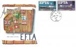 1967 EFTA, Connoisseur FDC, London - M.P.I.S (Mount Pleasant Inland Section) cds