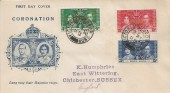 1937 King George VI Hong Kong Coronation, Illustrated FDC, Victoria Hong Kong cds
