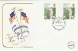 1976 USA Bicentenary American Museum Bath H/S Gutter Pair Cotswold FDC