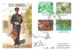 1985 Composers, Stamp Publicity Royal Military School of Music FDC, Royal Military School of Music BF 2128 PS H/S, Signed