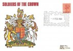 1980 QEII 10p Phosphor Centre Band Definitive Issue, Universal Soldiers of the Crown FDC, Windsor H/S