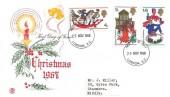 1968 Christmas, Stuart FDC, London EC FDI