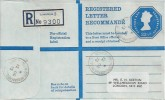 1973 QEII 23½p Registered G Size Envelope Postal Stationery FDC, Springbank Road Hither Green SE13 cds