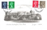 1968, QEII 5d, 7d, 8d, 10d Definitive Issue, Judge Windsor Castle Postcard, Windsor FDI