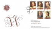2012 Kings & Queens House of Windsor, Official Royal Mail Cachet FDC, First Day of Issue Buckingham Palace London SW H/S