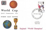 1966 England World Cup Winners, Connoisseur FDC, Harrow & Wembley FDI