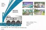 1968 British Bridges, Bath Stamp Shop Pulteney Bridge FDC, Bath Somerset FDI