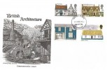 1970 British Rural Architecture, Allerford Somerset FDC, Taunton Somerset FDI
