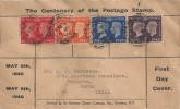 1940 Postage Stamp Centenary, Kenmore Stamp Company  Display FDC, 4 stamps only Brighton and Hove Sussex cds