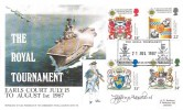 1987 Scottish Heraldry, Forces Royal Tournament FDC, The Royal Tournament British Forces 2142 Postal Service H/S, Signed by Stamp Designer Jeffrey Matthews