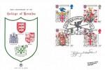 1984 Scottish Heraldry, Stuart FDC, College of Arms Quincentenary London EC4 H/S, Signed by Stamp Designer Jeffrey Matthews