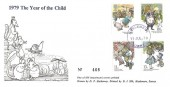 1979 The Year of the Child, D P Hathaway FDC, Haslemere Surrey Purple cds