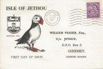 1961 Isle of Jethou Local, William Frazer FDC, Guernsey Cancel + Island of Jethou Channel Islands cds on rear