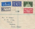 1953 Coronation, Plain Registered FDC, The London Airport Hounslow Middx. cds