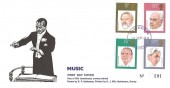 1980 British Conductors, D P Hathaway FDC, Purple Haslemere Surrey cds