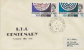 1965 International Telecommunications, Display FDC, Billingford Dereham Norfolk cds