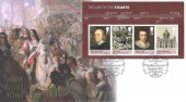 2010 The Stuarts Miniature Sheet, 1660 The Restoration of King Charles II, Buckingham Covers Official FDC, 350th Anniversary of the The Restoration London WC1 H/S
