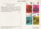 1970 Literary Anniversaries, National Portrait Gallery Card FDC, 4 x 5d Dickens Stamps only, London WC FDI