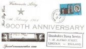 1966 Westminster Abbey Phosphor Set, Lincolnshire Stamp Service FDC, Newmarket Louth Lincs. cds