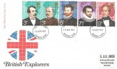 1973 British Explorers, Post Office FDC, Plymouth Devon FDI